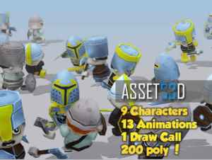 9 Animated Warriors for free (unityassets4free)