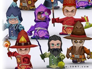 Chibi mages for free (unityassets4free)
