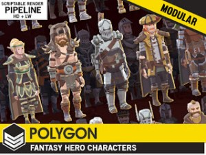 POLYGON – Modular Fantasy Hero Characters 1.07