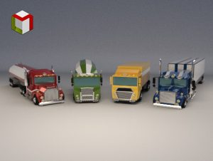 Low Poly Truck Pack 01