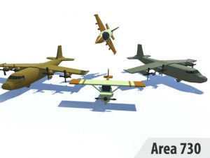 Stylized Low Poly Planes Pack