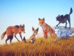 Poly Art Fox