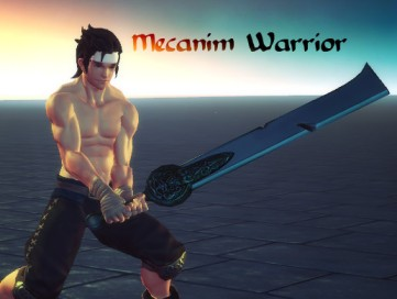 Mecanim Warrior – Cleaver Sword