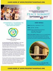 Global Prosperity and Peace Summit in Santa Cruz @ Peace United Church | Santa Cruz | California | United States