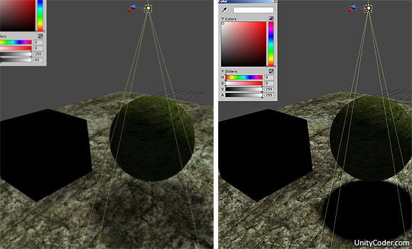 Black light shader (fake shadow) | Unity Coding - Unity3D