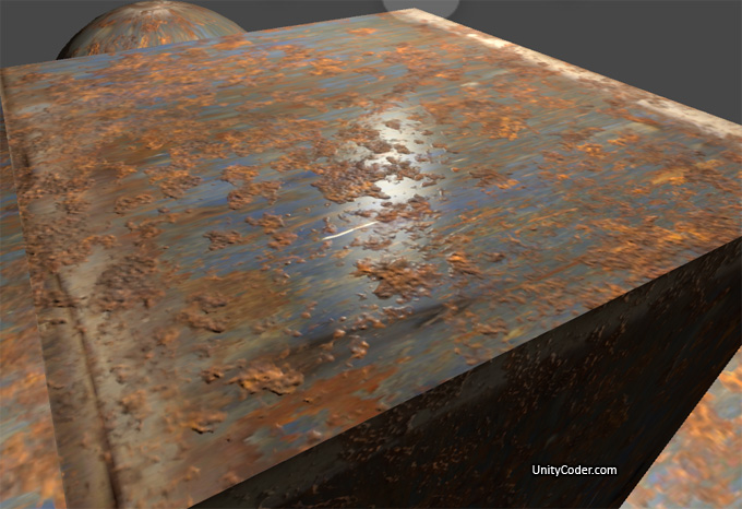 Rusted Metal Shader From Blender | Unity Coding - Unity3D