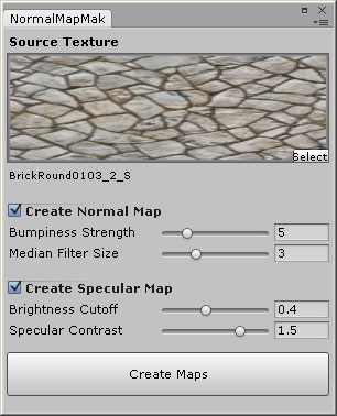 AssetStore] Normal & Specular Map Generator from Texture