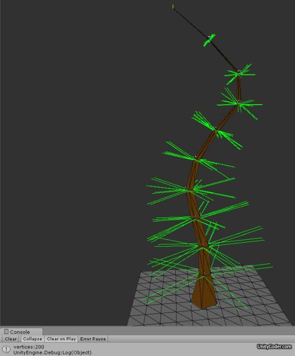 Procedural Tree Mesh Generator (wip) | Unity Coding - Unity3D