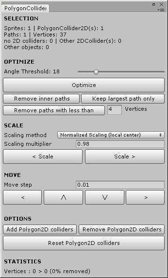 Asset Store] PolygonCollider2D Optimizer « Unity Coding – Unity3D