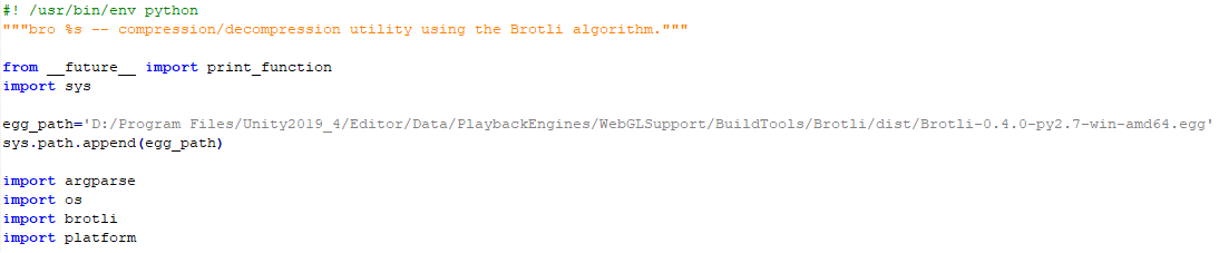 Compress WebGL build manually from command line (brotli)