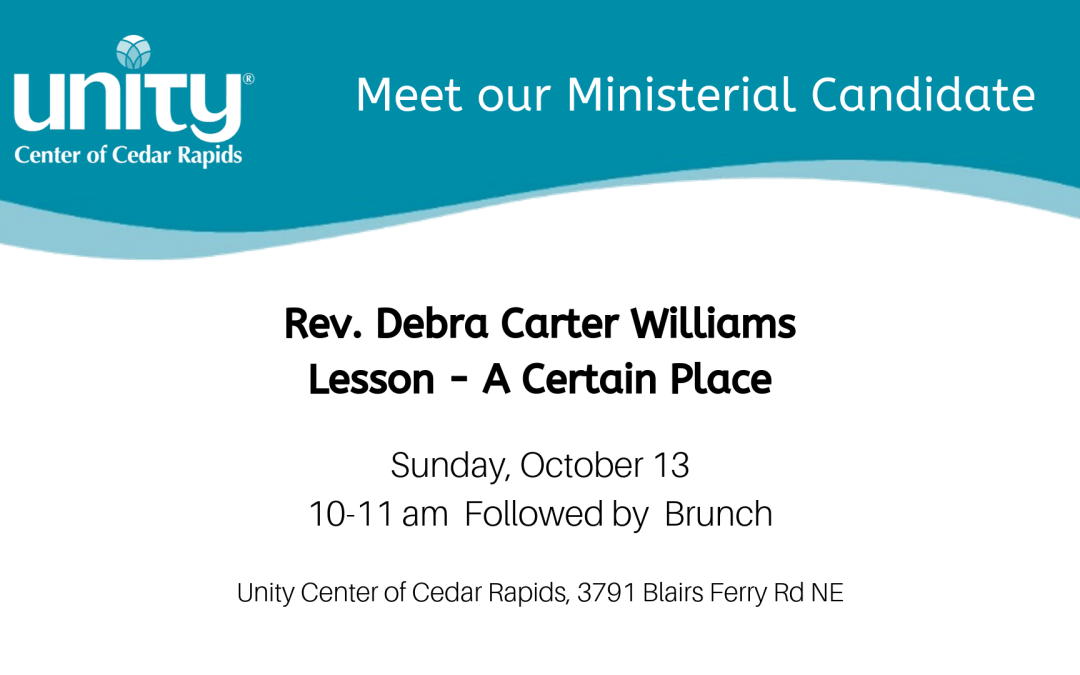 Ministerial Candidate Rev Debra Carter Williams