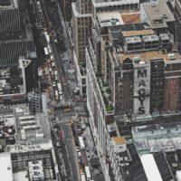 Aerial shot of Manhattan and Macy's