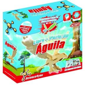 LIBRO + PUZLE 3D AGUILA