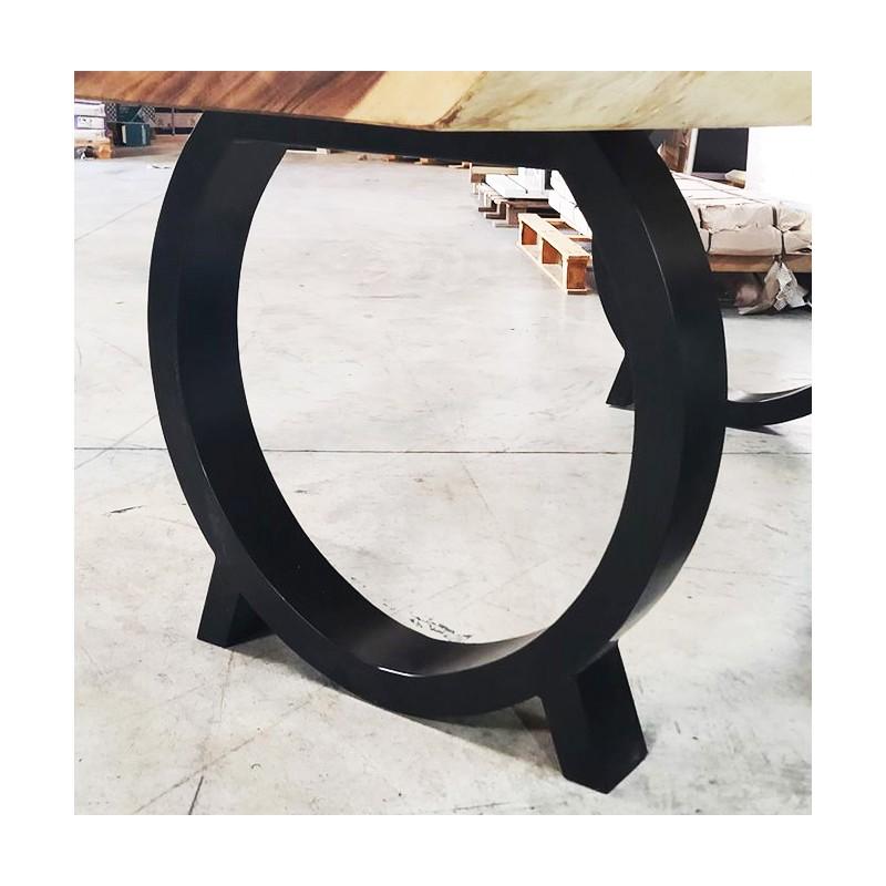 2 pieds en metal noir pour votre table