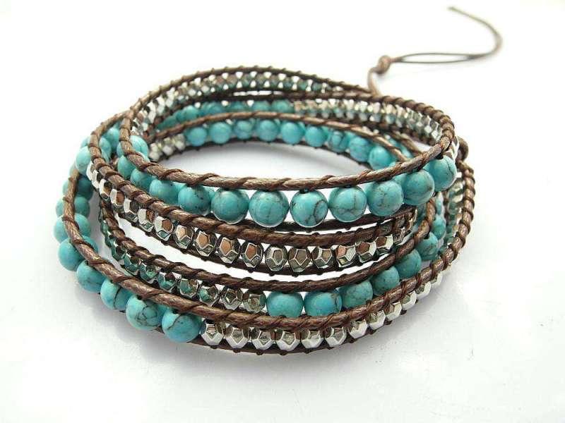 Bracelet Wrap Turquoise - L'univers-karma