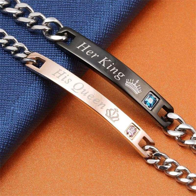 Bracelets de couple King&Queen - L'univers-karma