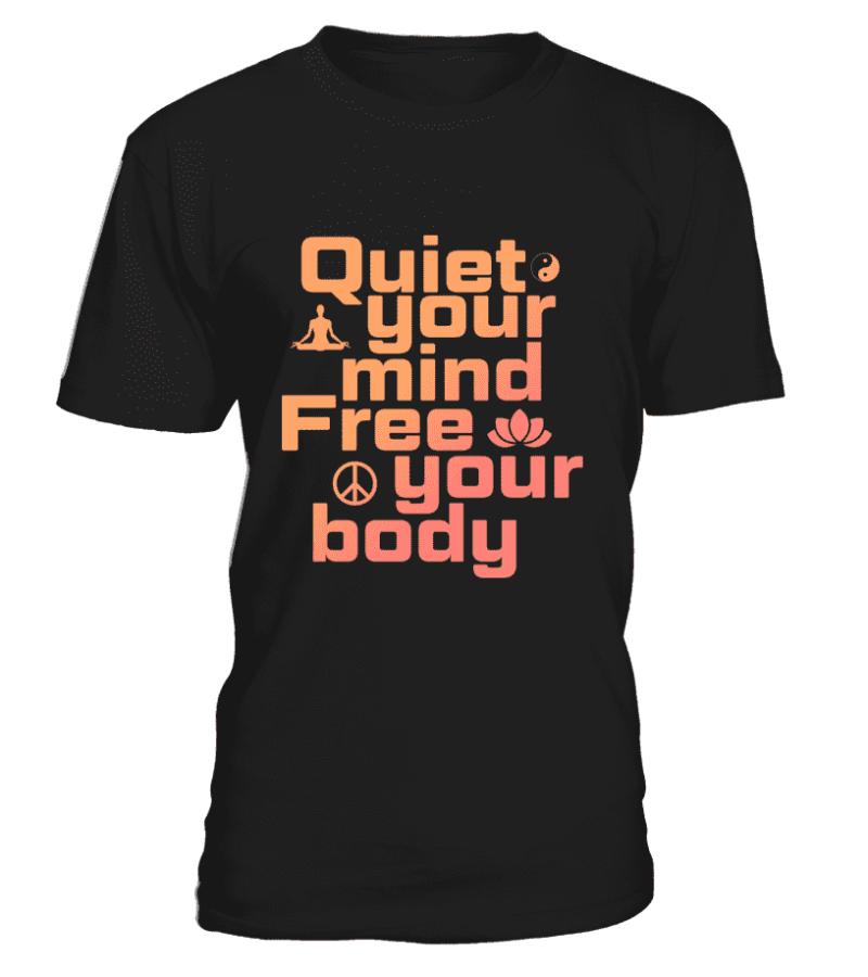 """T Shirt """"Quiet your mind"""" Pour homme - L'univers-karma"""