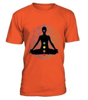 """T Shirt """"Méditation 7 Chakras"""" Pour homme - L'univers-karma"""