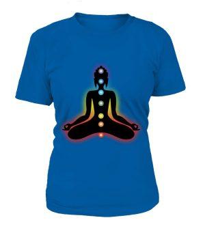 "T Shirt ""7 Chakras"" Pour femme - L'univers-karma"