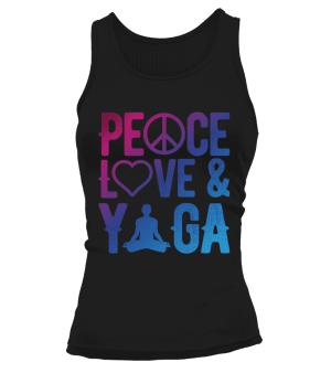 """Débardeur """"Peace, Love & Yoga"""" Pour femme - L'univers-karma"""
