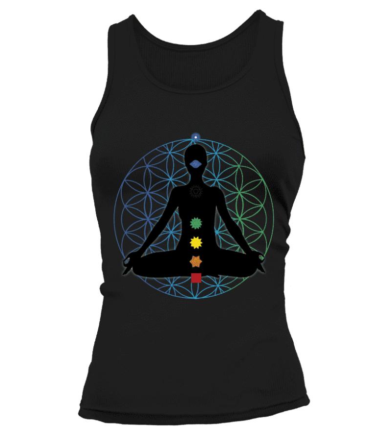 """Débardeur """"Méditation 7 Chakras"""" Pour femme - L'univers-karma"""