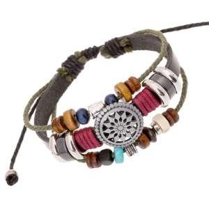Bracelet Trio Tibétain en Cuir - L'univers-karma