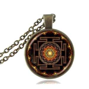 Collier Hindou Sacré Sri Yantra - L'univers-karma