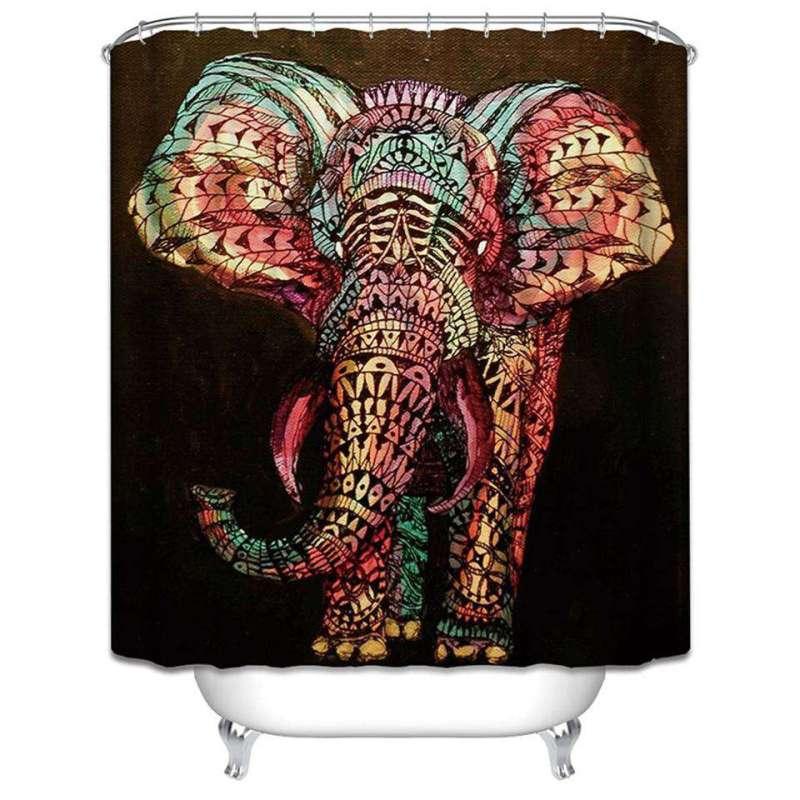 """Rideau de Douche """"Elephant"""" - L'univers-karma"""