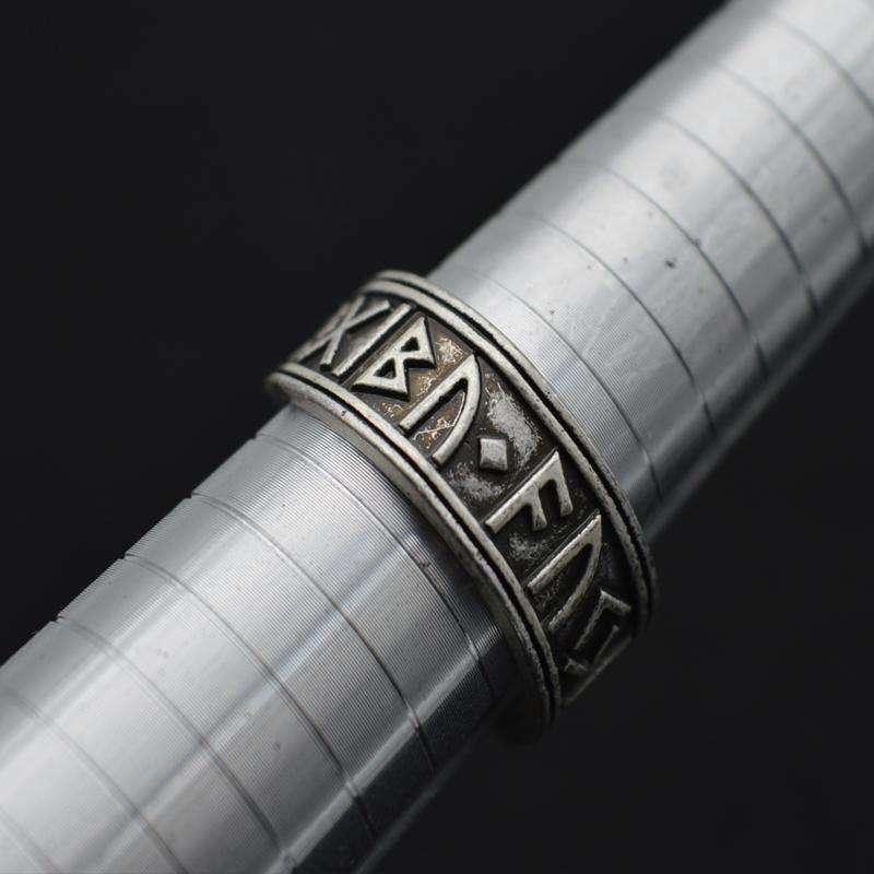 Bague Viking Runique Ajustable Fait Main - L'univers-karma