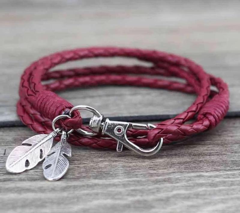 Bracelet Plumes de Protection Fait Main - L'univers-karma