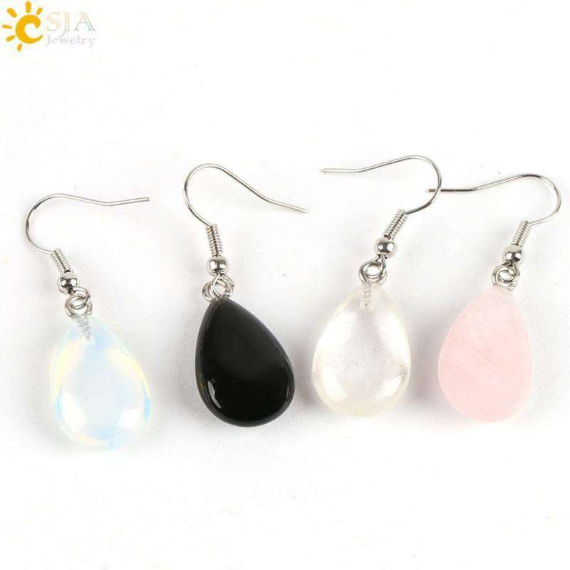 Boucles D'oreilles de Protection en Pierres Naturelles - L'univers-karma