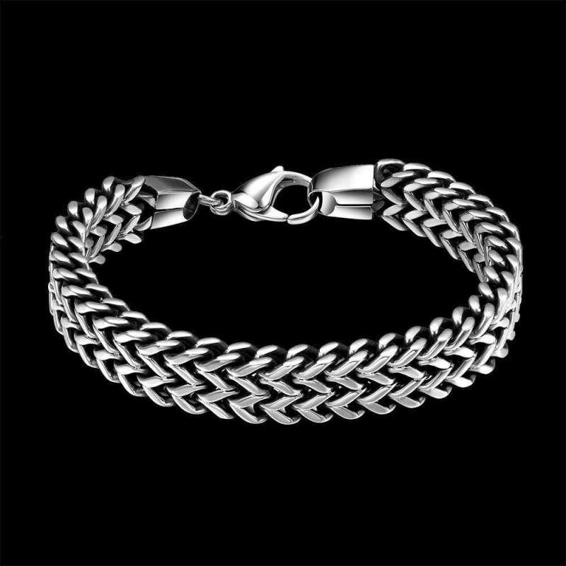 Bracelet Chaîne de Serpent en Acier Inoxydable - L'univers-karma