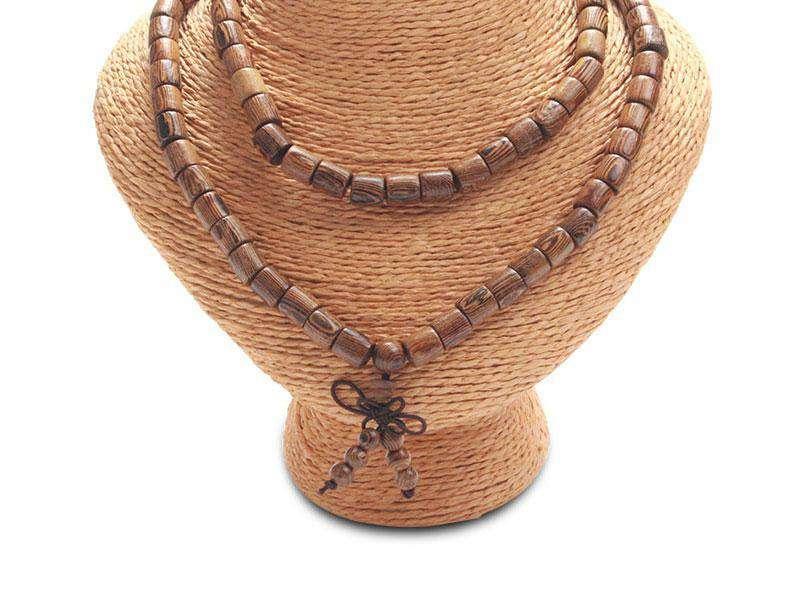 Bracelet Mala de méditation 108 Perles en Bois Wengé - L'univers-karma