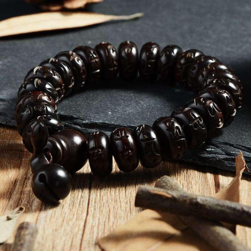 Bracelet de Concentration Tibétain en Bois de Pécher - L'univers-karma