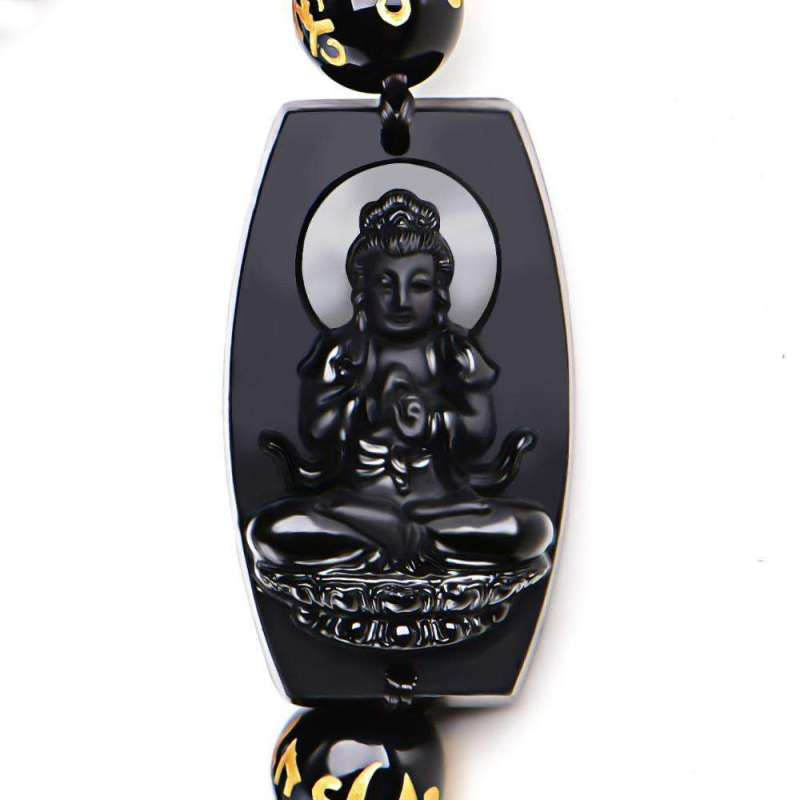 Bracelet de Chance Bouddha en Obsidienne - L'univers-karma