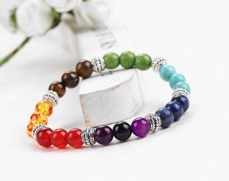 Bracelet de Restauration des 7 chakras en pierre naturelle - L'univers-karma
