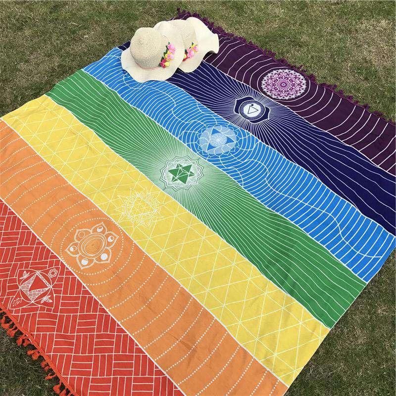 Tapis de Méditation 7 Chakras - L'univers-karma