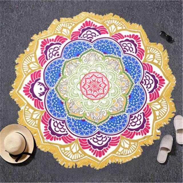 Toile Mandala Fleur de Lotus 6 coloris au choix - L'univers-karma
