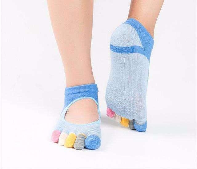 Chaussettes de Yoga Antidérapantes - 5 Couleurs au Choix - - L'univers-karma