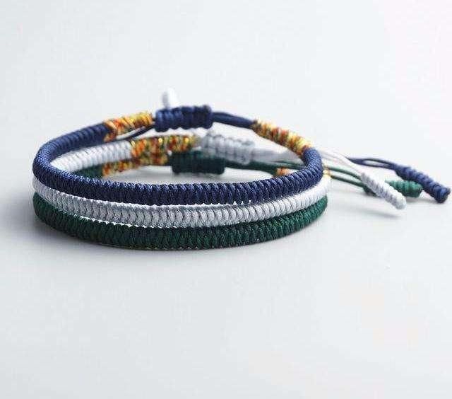 Bracelet Tibétain Porte Chance Fait Main - L'univers-karma