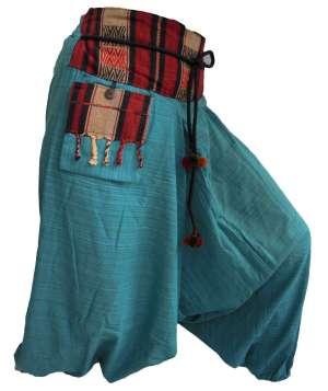 Pantalon Sarouel Bleu Turquoise - L'univers-karma