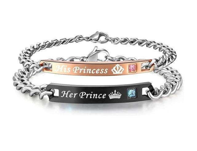Bracelets de couple Prince&Princess - L'univers-karma