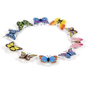 10 papillons lumineux led