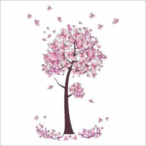 Stickers Papillon Arbre