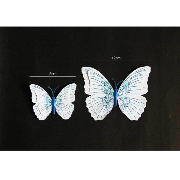 Stickers papillon blanc taille
