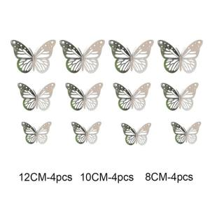 stickers papillon gris