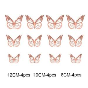 stickers papillon rose