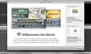 Im Mac integriert: iMovie, das Einsteigerprogramm von Apple.