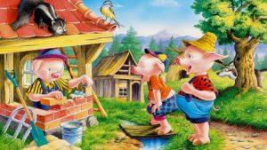 Three little pigs built houses