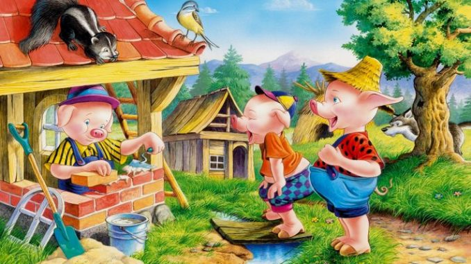 Three little pigs built houses The Three Little Pigs - Short Stories for Kids